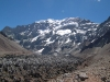Mt Aconcagua View with glacier